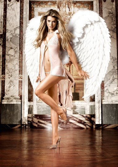 Babydoll With G-String One Size White
