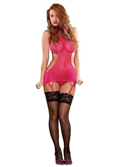 Halter Dress & G-String - Pink
