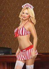 Kandy Stripper - Red / White