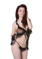 Black Babydoll with Ribbon & String