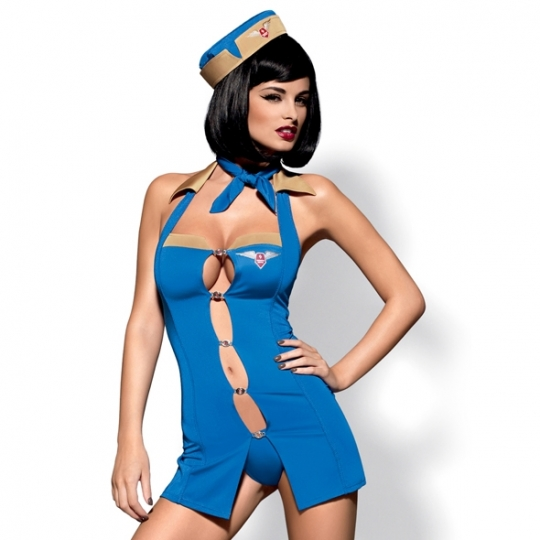 Air Hostess Costume Blue L/XL