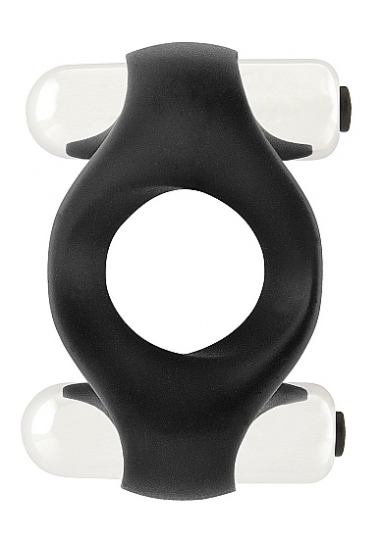 Infinity - Double Vibrating Cockring - Black