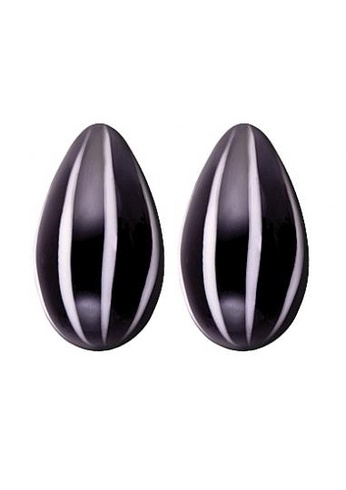 Crystal - Glass Eggs - Black
