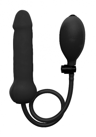 Inflatable Silicone Dong - Black