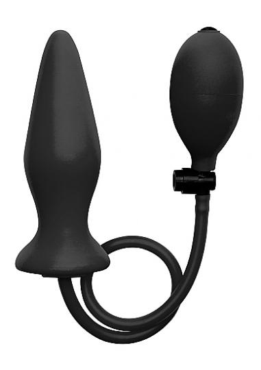 Inflatable Silicone Plug - Black