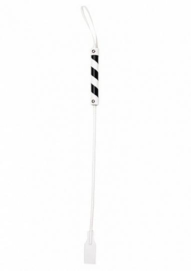 Cube Tipped Crop - PVC - White / Black
