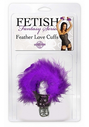 Feather Love Cuffs Purple