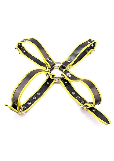 Chest Harness - Medium - Black And Yellow