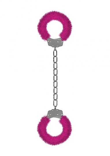Furry Ankle Cuffs - Pink
