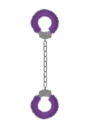 Furry Ankle Cuffs - Purple