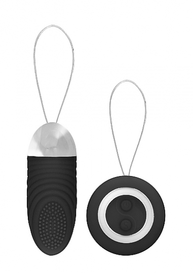 Ethan - Rechargeable Remote Control Vibrating Egg - Black