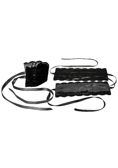Black Satin and Lace Lovers Kit